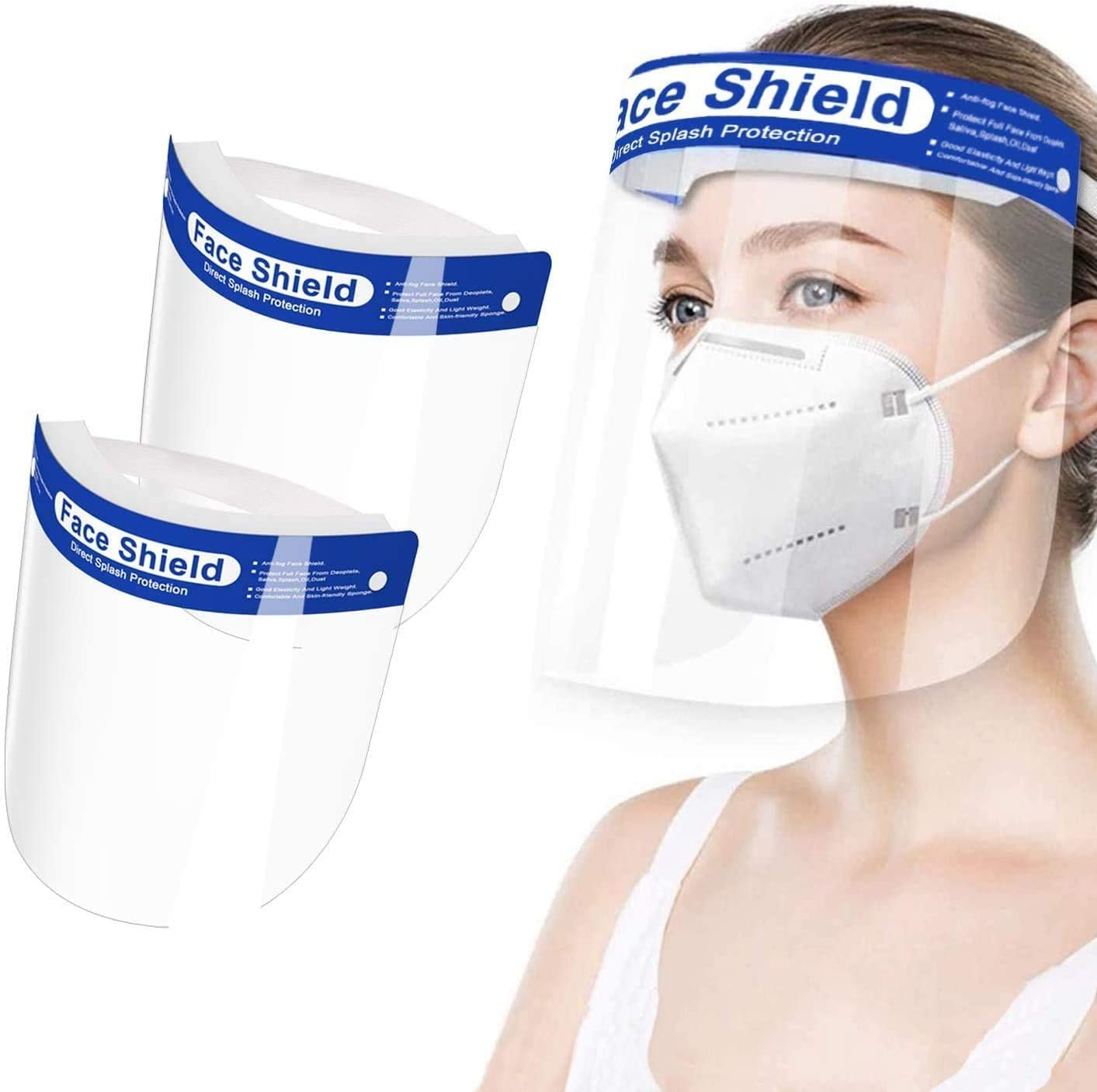 Safety Face Shield Free shipping 6 PCS Full Reusable Genuine Transparent F Adjustable