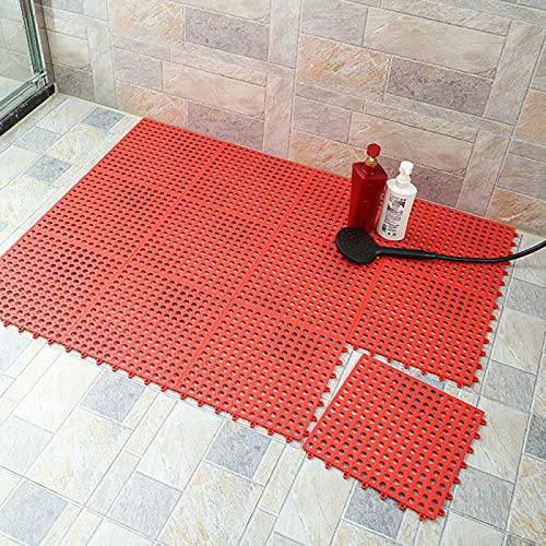 AMZYY Alfombrilla de ducha antideslizante de TPE para el suelo, para empalme, impermeable, para drenaje, piscina, ducha, baño, cocina, 30 x 30 cm
