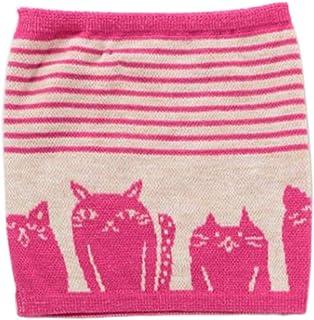 Kaya Japanese Haramaki Stomach/Body Warmer Belt Stripe and Cat Design Pink Kids Size