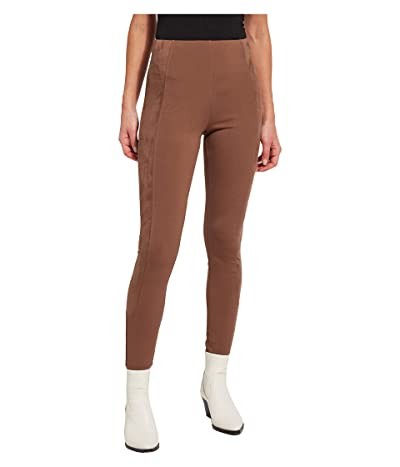 Lysse Jonna Leggings in Ponte with Vegan Suede Side Stripe Women