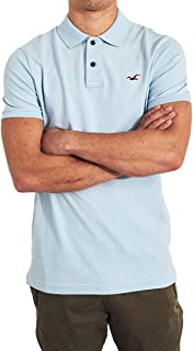[ホリスター] HOLLISTER 正規品 メンズ ストレッチスリム ワンポイントロゴ 半袖ポロシャツ Stretch Slim Fit Polo 324-224-0402 並行輸入品 [並行輸入品]