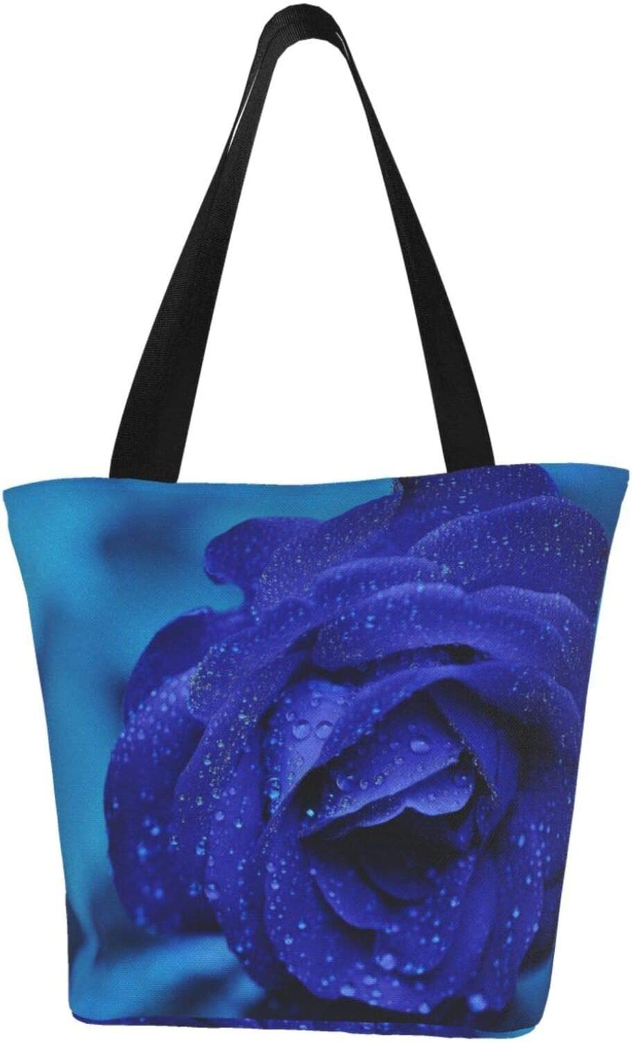 AKLID Blue Rose Extra Large Water for sold Overseas parallel import regular item out Bag Tote Resistant Canvas