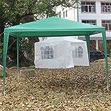ngzhongtu Carpa Impermeable Gazebo Canopy Party Wedding Carpa 3x3M Toldo de Sombra al Aire Libre Toldo Universal Toldo Jardín Sun Shelter - Verde
