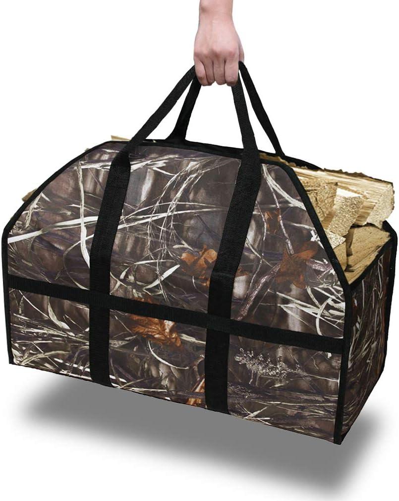 GERYMU Firewood Log Carrier Dallas Latest item Mall - Fireplace C Duty Heavy Wood Holder