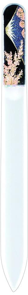 危機構想するプレゼント橋本漆芸 ブラジェク製高級爪ヤスリ 富士に桜 OPP