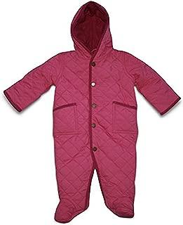 Ralph Lauren Baby Girl 1-Piece Hoodie Winter Quilted Bunting (6 Months 6M) Pink