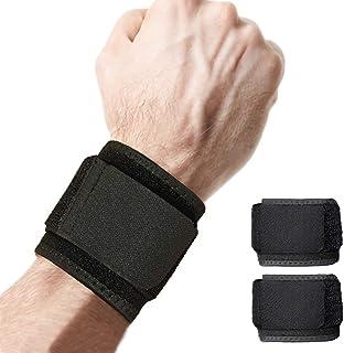 2 بسته مچ بند قابل تنظیم پشتیبانی مچ برای وزنه برداری تناسب اندام ، التهاب التهاب مفاصل ، آرتروز تونل کارپ ، تسکین درد مچ دست-هرجای دیگر-یونیکس (سیاه)