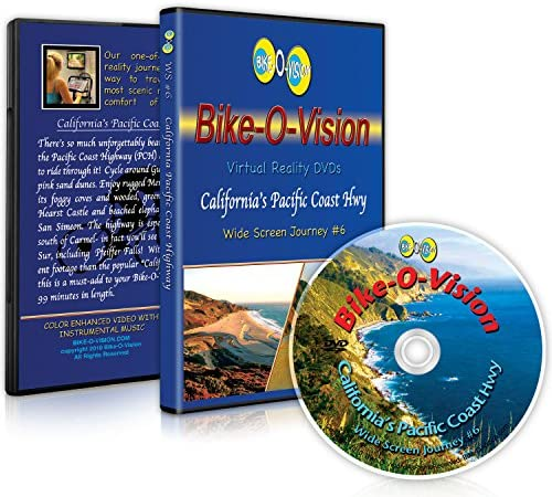 Bike O Vision Virtual Cycling Adventure CALIFORNIA PACIFIC COAST HWY Perfect for Indoor Cycling product image