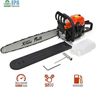 XtremepowerUS 52cc Gasoline Chainsaw 2.7HP Engine 2-Stroke Wood Cutting Tree Log Cutter..