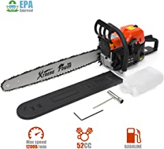 XtremepowerUS 52cc Gasoline Chainsaw 2.7HP Engine 2-Stroke Wood Cutting Tree Log Cutter Trimmer Crankcase EPA