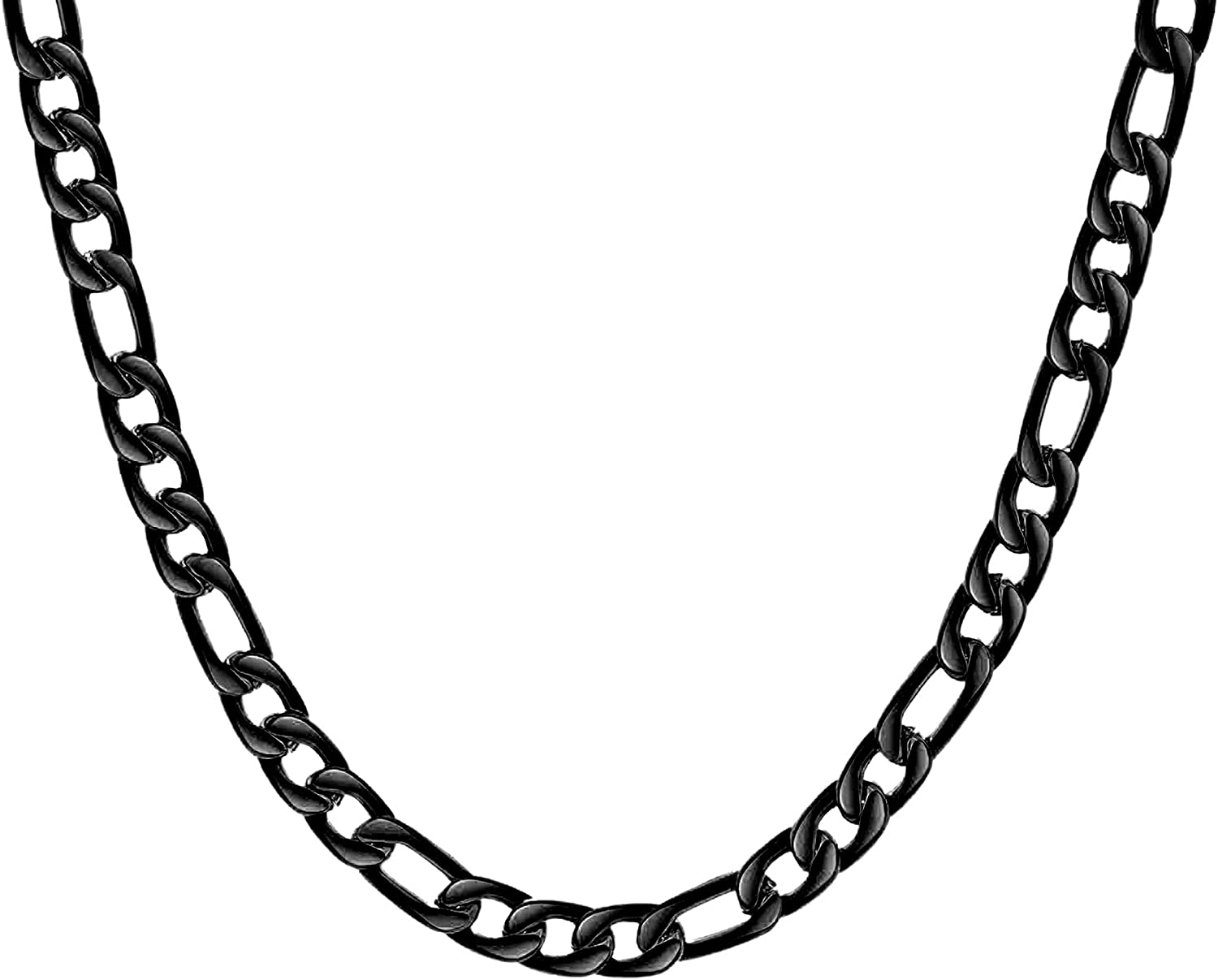 Cupimatch Thick Heavy Figaro Chain Necklace 4 5 5.8mm 5.7 5.6 Wi Free Shipping Cheap Ranking TOP2 Bargain Gift