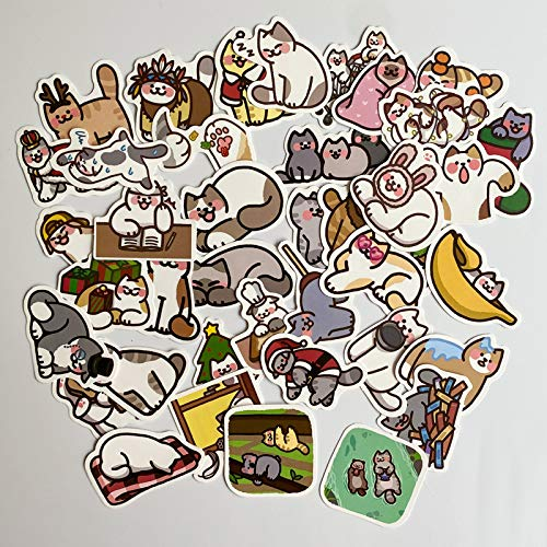 BAIMENG Cartoon Cute Cat Star Man Sticker Suitcase Laptop Phone Case Sticker 40 Pcs