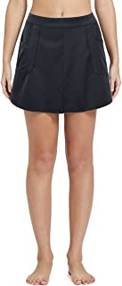 Nonwe Women's Slit Side Quick Drying Swim Skirt with Pockets