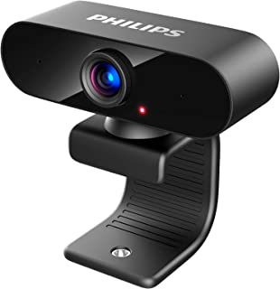Philips Webcam with Microphone, Full HD 1080P, USB Computer Camera, Plug and Play, 360° Rotate, for PC Video Conferencing/...