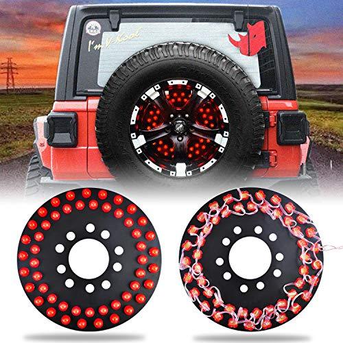 omotor 50pcs led for Jeep Spare Tire Brake Light Third Brake Light fits 2007-2020 Jeep Wrangler JK JL YJ LJ