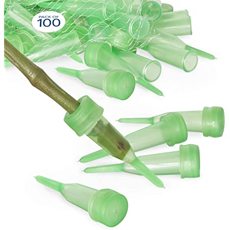 Flower Water Tubes,Floral Water Tube,Okngr 50Pack Clear Plastic Flower Tubes with Cap for Flower Arrangement Decoration Floral Supplies 1.6inch