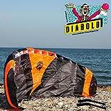 Lenkmatte Paraflex Trainer-Kite 2.3 ink. Lenkbar Schnüren + Handels + Tasche + Bodenanker + Kitekiller + Aufkleber + Anleitungsheft für Einsteiger Kinder Fortgeschrittene zum Lenkdrachen fliegen