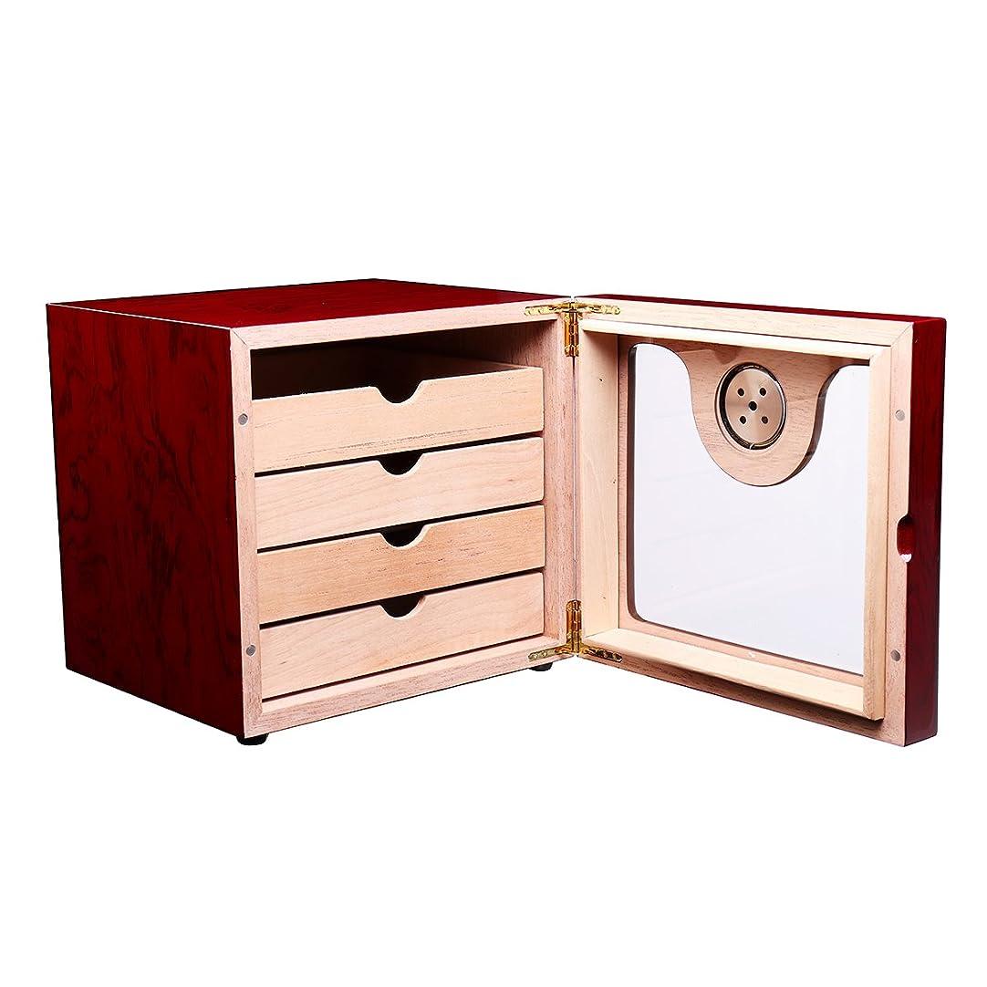 広告するルール師匠ZHENWOFC 湿度計付きシダー木材並ぶシガー収納ボックス加湿器シガレットケース75個 New