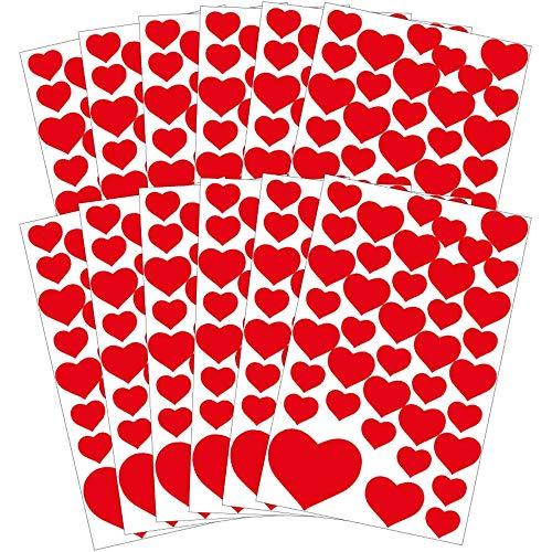 AVERY Zweckform Art. 58222 Aufkleber Herzen (Sticker Set, Papier, Hochzeit, Liebe, Hochzeitsdeko, Herzsticker, Herzaufkleber, Valentinstag, Love) 468 Stück