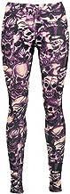 Alcatraz - Gothic Purple Skull Legging doodskop...