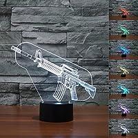 IMAX クリエイティブ プレゼント ガン ナイトライト 3D ナイトライト テーブル 机 錯覚 ランプ 7色変化 ライト