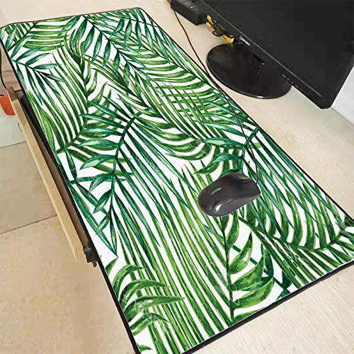 Extended Mouse Mat Bladeren Groene Grote Lock Edge Mouse Pad Gamer Play Mats Toetsenbord Mat Bureau Mat Computer Game Tablet Gaming, 300X600X2MM