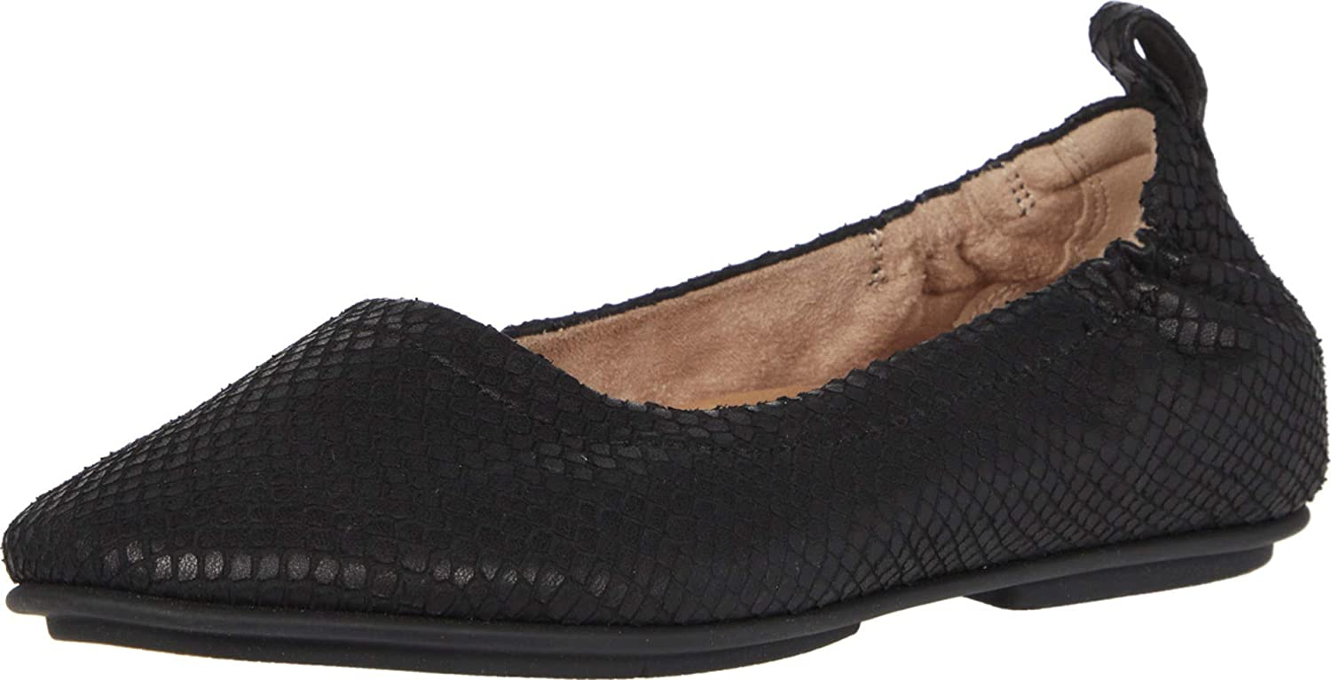 FitFlop Womens Allegro Max Regular discount 70% OFF Snake Shoes Embossed Ballet Flat