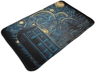 HUTTGIGH Starry Gallifrey Doctor Who Tardis Van Gogh Felpudo antideslizante alfombra de baño cocina alfombra de piso de 1...