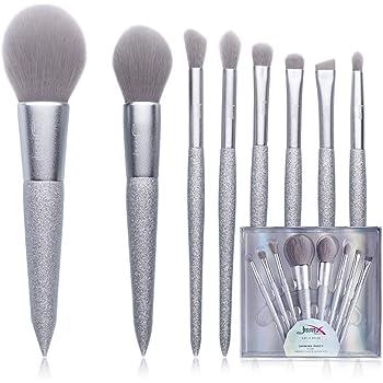 Set de Brochas de Maquillaje Jessup, Brocha para Sombras de Ojos Brochas de Sombra de Ojos Brochas Sintéticas para, Brochas de Maquillaje en Polvo Plata T265: Amazon ...