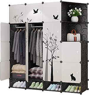 Garde-robe Locker Simple Armoire économie Moderne en Plastique Espace coulissante Chambre Ensemble Porte Simple Armoire XI...