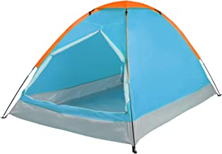 REDCAMP Small Camping Tent for 1-2 Person, Lightweight Water Resistant Compact Tent for Outdoor Backpacking Hiking, Blue and Orange