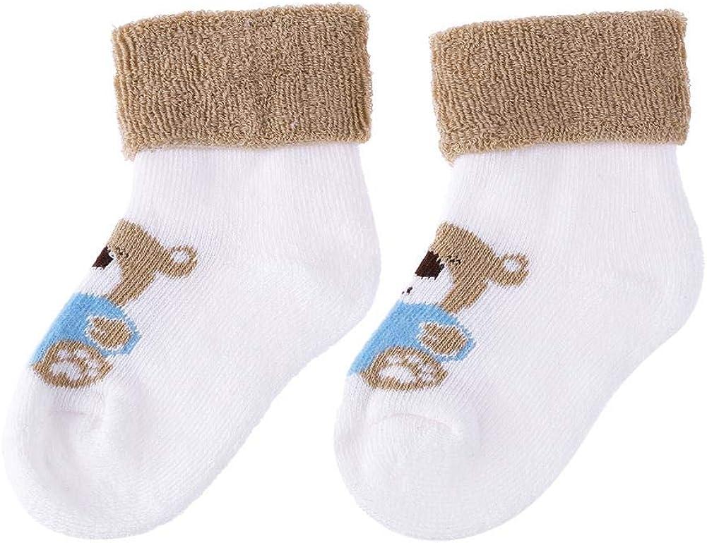 Little Kids Socks Winter Newborn 100% quality warranty Baby Pile W Animal Loop Cartoon Cheap mail order specialty store
