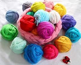 10 stks/partij Super Soft 100% Merino Wool Garen Dauwerige Bulkende Wol Roving DIY FELTING DIENDE Garen Vilt Poke 5G / PC ...