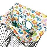 Einkaufswagen Pad Baby Trolley Kissen Kinder Niedlichen Cartoon Elefanten Gedruckt Sitz Esszimmer Stuhlabdeckung Jungen Mädchen Faltbare Tasche Universal Montage Hochstuhl Pads