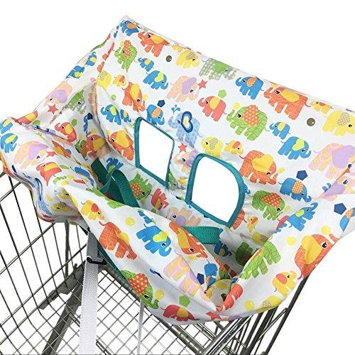 Eternitry Carrello Spesa Pad Bambino Trolley Cuscino Kids Cute Cartoon Elephant Stampato Sedile Sedia da Pranzo Copriscarpe per Ragazzi Sacco Pieghevole Universale Seggiolone per seggiolone