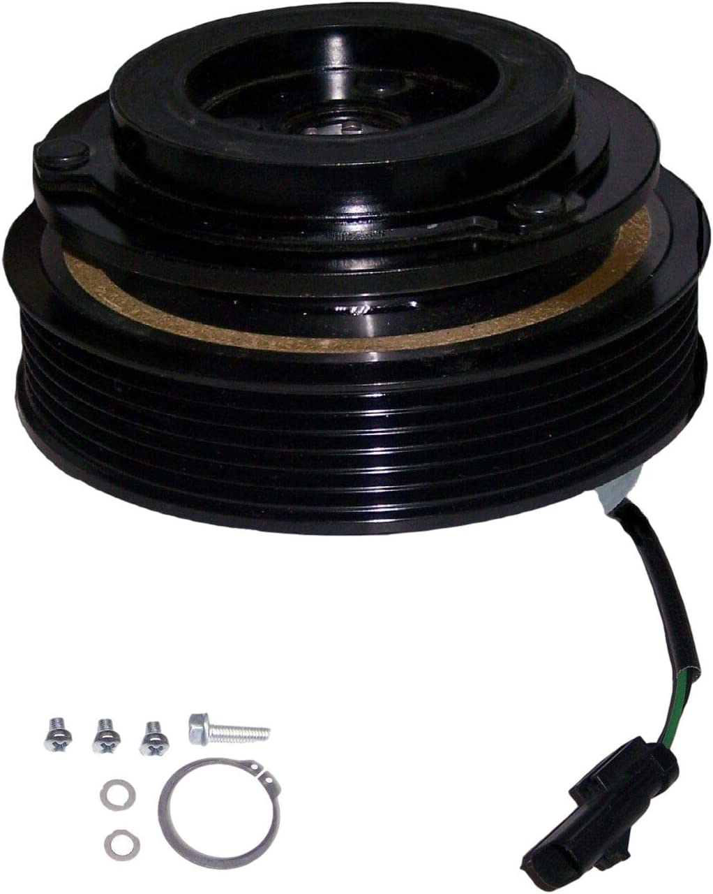 CoolTech AC Compressor Clutch Japan's largest assortment New arrival Kit Fits: Pulley Jeep Wrangle Coil