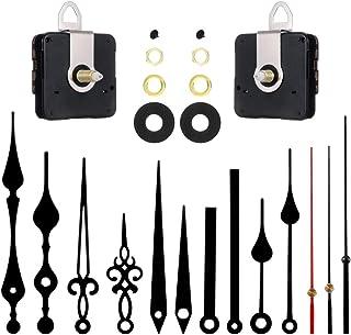 SUSSURRO Kits de Mouvement d'horloge Grandes Aiguilles de Mécanisme Horloge Murale Silencieuse Vintage pour Remplacement e...