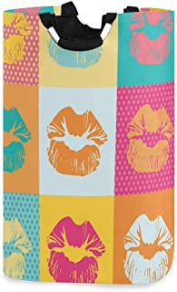 COFEIYISI Grand Organiser Paniers pour Vêtements Stockage,Impression de Conception d'amour de Mode Moderne,Pliable Sac à L...