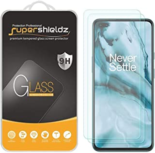 2 Pack) Supershieldz for OnePlus Nord Tempered Glass Screen Protector, Anti Scratch, Bubble Free