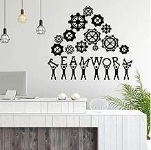 Creative Design Wall Art Decal Teamwork Business Success Work Inspiration Quote Office Decor Motivation Vinyl Sticker Mural 65x57cm