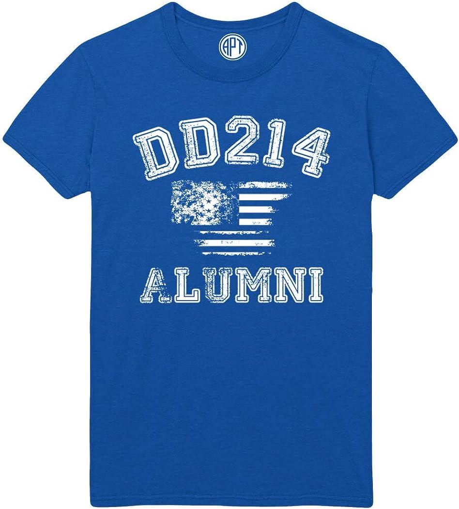 DD214 Alumni with Flag Printed T-Shirt