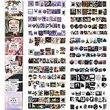 DTMEFJ 480 Stück Bogen mit niedlichen Washi-Aufklebern, Kawaii-Muster, Scrapbooking-Papier-Sticker, Etikett, DIY-Tagebuch, Deko-Material