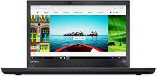 Lenovo ThinkPad T470 Laptop - Intel Core i5-7200U, 14-Inch, 500GB, 4GB, Eng-Arb-KB, Windows 10 Pro, Black