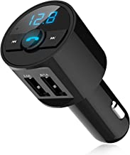 Bluetooth 4.2 FM Transmitter, EEEkit Wireless in-Car FM Transmitter Radio Adapter Car Kit, Universal Car Charger with Dual USB Charging Ports, Hands Free Calling for All Smartphones