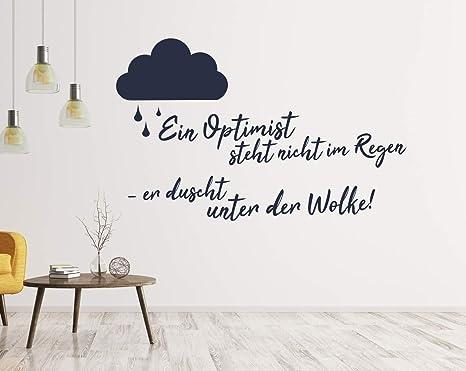 Tjapalo A106 Wandtattoo Buro Spruche Motivation Deutsch Wandspruche Buro Motivationsspruch Ein Optimist Steht Nicht Im Regen Farbe Hellgrun Grosse B100xh58cm Amazon De Baumarkt