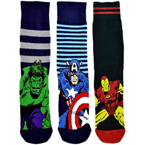 68494ac3d9a 6 Pairs   3 Pairs New Prints Marvel Comics Action Hero Design Socks Mens  Novelty Fun