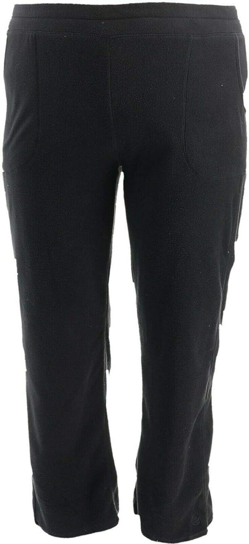 Cuddl Duds Fleecewear Stretch Leggings A342094, Black
