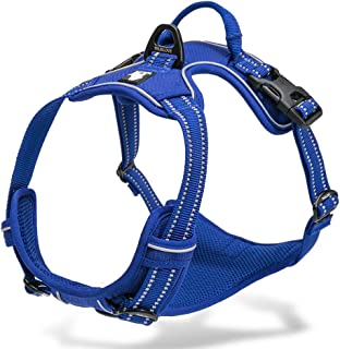 Chai's Choice Best Outdoor Adventure Dog Harness. 3M Reflective Vest with Two Leash..