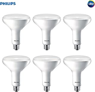 Philips LED Dimmable BR40 Soft White Light Bulb with Warm Glow Effect, 2700-2200-Kelvin, 9-Watt (65-Watt Equivalent), E26 Base, Frosted, 6-Pack