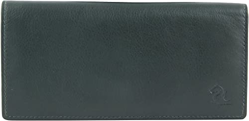 Olive Leather Clutch Wallet for Women